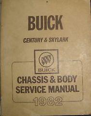 1982 BUICK CENTURY Shop Repair Service Workshop Manual 82 OEM BOOKS OEM