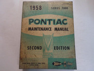 1958 Pontiac 7000 Preliminary Maintenance Manual 2ND EDITION STAINED WORN OEM 58