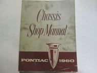 1960 Pontiac Chassis Service Repair Shop Manual Factory OEM Book Used