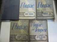 1961 GM Pontiac TEMPEST Service Repair Shop Manual 5 Volume Set Factory OEM Used