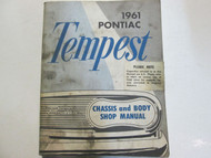 1961 GM Pontiac TEMPEST Service Repair Shop Manual Factory OEM Book Used