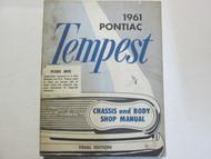 1961 GM Pontiac TEMPEST Service Repair Shop Manual Factory OEM Final Edi Used