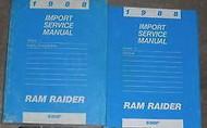 1988 Dodge Ram Raider Truck Service Repair Shop Workshop Manual SET OEM 1988