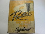 1960 Pontiac Series 7000 Service Repair Shop Manual Supplement OEM Book Used
