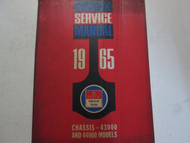 1965 BUICK Chassis 43000 44000 Special Chassis Service Repair Shop Manual Used