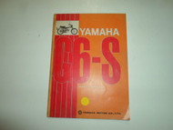 1970s Yamaha G6-S G6 S Service Repair Shop Manual FACTORY OEM BOOK 70s DEAL x