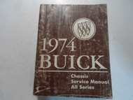 1974 Buick RIVIERA LESABRE REGAL ALL SERIES Service Manual STAINED WATER DAMAGE