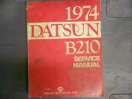1974 Datsun B210 Service Repair Shop Workshop Manual Factory OEM 74