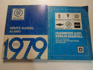 1979 Buick All Series Advanced Information Service Manual 2 Vol SET WORN WRITING