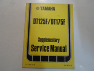 1979 Yamaha DT125F DT175F Supplementary Service Manual FACTORY OEM BOOK 79 x