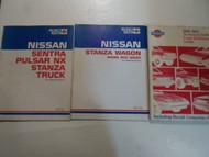 1980-1985 Nissan Stanza Sentra Pulsar Model Intro Technical Bulletin 3 VOL SET