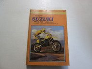 1981 1988 Clymer Suzuki RM125 500 Service Repair Maintenance Manual x