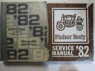 1982 Pontiac Grand Prix Bonneville Service Shop Repair Manual Set OEM DAMAGE