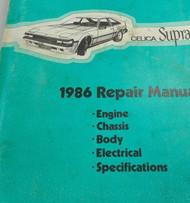 1986 TOYOTA CELICA SUPRA Service Repair Shop Workshop Manual OEM Factory 1986