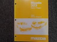 1988 Mazda 323 Electrical Wiring Diagram Troubleshooting Service Shop Manual EWD
