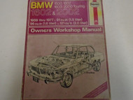 1959 1977 BMW Haynes 1500 1502 1602 2002 1.5 1.6 Owners Service Workshop Manual