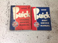 1958 GM Buick All Series Service Shop Repair Manual OEM FACTORY Set W Chassis Bo