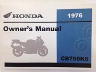 1976 HONDA CB750K6 750 Four Operators Owner Owners Manual NEW