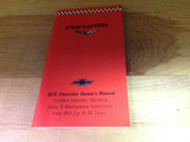 1979 GM Chevrolet Chevy CORVETTE Owners Operators Owner Manual NEW