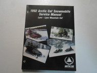 1992 Arctic Cat Snowmobile Lynx Lynx Mountain Cat Service Repair Shop Manual 92x