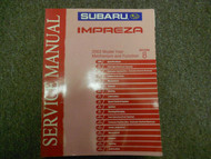 2003 Subaru Impreza Mechanism Function Section 8 Service Manual WATER DAMAGED