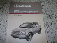 2003 Lexus RX300 RX 300 Electrical Wiring Diagram Service Shop Manual EWD NEW
