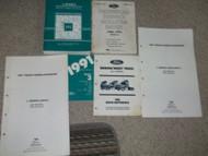 1991 Ford L SERIES L-SERIES TRUCK Service Shop Repair Manual Set DEALERSHIP HUGE