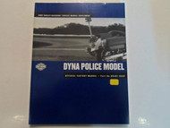 2002 Harley Davidson Dyna Police Model Service Repair Manual Supplement USED 02