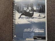 2001 Ski Doo Skandic Touring Formula MX Z Summit Service Repair Shop Manual x