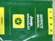 1998 JEEP WRANGLER Service Repair Shop Manual FACTORY DEALER OEM BOOK 98 NEW