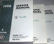 1998 Cadillac SEVILLE Service Shop Repair Manual Set 98 FINAL EDI 3 VOLUME HUGE