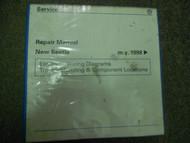 1998 99 00 2001 VW New Beetle EWD Troubleshooting Component Service Manual DAMAG