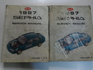 1997 Kia Sephia Service Repair Manual 2 VOLUME SET FACTORY OEM BOOK 97 DAMAGED