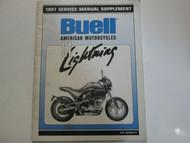 1997 Buell Lightning S1 Service Shop Manual Supplement FACTORY BRAND NEW