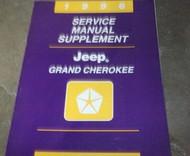 1996 Jeep Grand Cherokee Service Repair Shop Manual SUPPLEMENT OEM 96 NICE