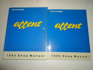 1995 HYUNDAI ACCENT Service Repair Shop Manual 2 VOLUME SET FACTORY OEM BOOK 95