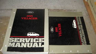 1995 FORD MERCURY VILLAGER VAN Repair Service Shop Manual Set 95 EWD EVTM