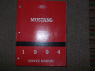 1994 FORD MUSTANG Service Shop Repair Manual FACTORY DEALERSHIP X OEM FORD MOTOR