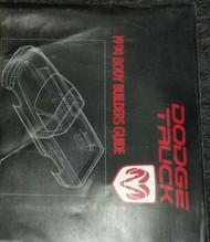 1994 Dodge Ram Truck 1500 2500 3500 Body Builders Book Guide Manual Factory OEM