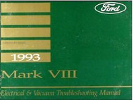 1993 Lincoln MARK VI MARK 8 Wiring Electrical TROUBLESHOOTING Shop Manual OEM