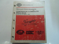 1993 Harley Davidson CONFIDENTIAL OBSOLETE PRICE BOOK Manual Factory OEM Book 93