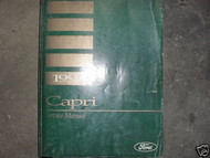 1993 Ford Mercury Capri Service Repair Shop Manual W Electrical Wiring Book OEM