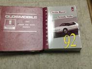 1992 Oldsmobile Olds TORONADO TROFEO Service Shop Repair Manual Set W Labor Book