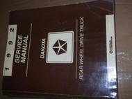 1992 Dodge Dakota TRUCK Service Repair Shop Manual W Chassis Diagnostic Book OEM