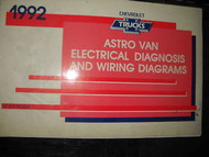 1992 Chevy Astro Van Electrical Wiring Diagram Service Shop Repair Manual EWD