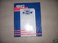 1992 Chevrolet Chevy LUMINA APV MINI VAN Shop Repair Service Manual DEALERSHIP