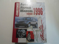 1992 93 94 95 1996 Chiltons Auto Repair Manual ALL MODELS ALL MAKES GM CHRYSLER