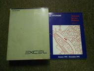 1991 HYUNDAI EXCEL Service Repair Shop Manual SET FACTORY OEM Book 91 x