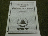 1991 Arctic Cat Panther Illustrated Parts Catalog Manual FACTORY OEM BOOK x
