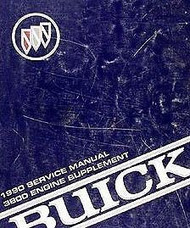 1990 BUICK REGAL ENGINE 3800 Factory Service Shop Repair Manual SUPPLEMENT OEM